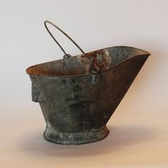 Hey, I found this really awesome Etsy listing at http://www.etsy.com/listing/94539595/vintage-coal-bucket-pail-scuttle