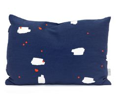 35 x 50 cushion Tas-ka 'lommer' blue