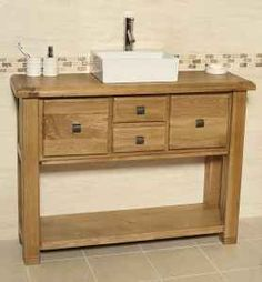 Oak Vanity Unit with 4 Drawers | Bathroom | Ohio