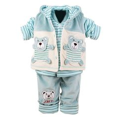 Free Shipping Baby Girls Infant Warmly Flannel Winter Clothes Set Tops and Pants and Vest Lovely Baby's Sets-in Clothing Sets from Mother & Kids on Aliexpress.com   Alibaba Group
