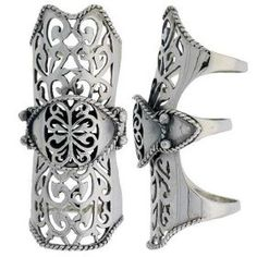 Silver.  #ring #jewelry #filigree
