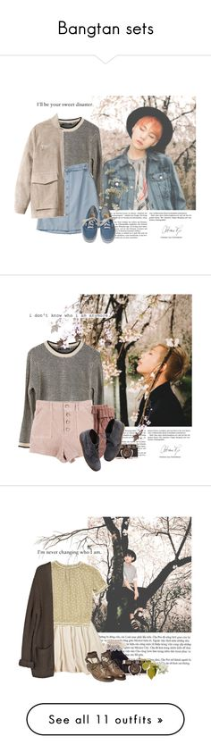 """Bangtan sets"" by yxing ❤ liked on Polyvore featuring kpop, bts, bangtan, Ash Rain + Oak, H&M, Vans, country, Tag, Suga and Fat Face"