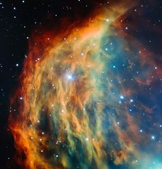 ESO's Very Large Telescope images the Medusa Nebula. Image credit: ESO