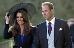 Prince William and Kate Middleton attend the wedding between event rider Harry Meade and Rosemarie Bradford at the Church of St Peter and St Paul.
