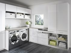 Organize your laundry room with custom cabinets and shelves designed by California Closets. Get inspired by our laundry room storage ideas and designs. Schedule a free consultation today! Laundry Room Remodel, Basement Laundry, Laundry Closet, Laundry Room Organization, Laundry Storage, Compact Laundry, Folding Laundry, Laundry Hamper, Kitchen Storage