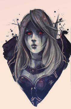 World of Warcraft Character Portraits, Character Art, Character Design, Dnd Characters, Fantasy Characters, Elf Tattoo, World Of Warcraft Wallpaper, Banshee Queen, Sylvanas Windrunner