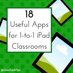 Instead of loading each iPad with a hundred apps, choose 10-12 quality content consumption and creation tools for your students. Here is a list of apps that can shine in a one-to-one iPad classroom.