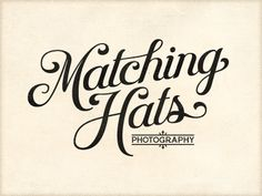 Matching Hats Photography script logo by Richie Steward