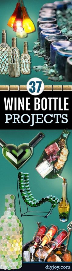 Wine Bottle DIY Crafts - Projects for Lights, Decoration, Gift Ideas, Wedding, Christmas. Easy Cut Glass Ideas for Home Decor on Pinterest http://diyjoy.com/wine-bottle-crafts #DIYHomeDecorGifts #winebottlecrafts #winecrafts #diychristmasgifts #christmasdecorationsdiy