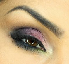 Daria Kłosowicz beauty blog: Evening make-up: purple and green