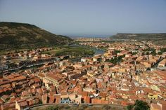 Bosa Marina, Sardinia from Serravalle's Castle (Malaspina) – river Temo