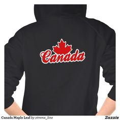 Canada Maple Women's Zipped Sweatshirt.