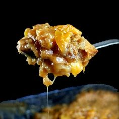Butterscotch Caramel Peach Cobbler recipe