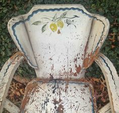 Shabby Pair Chairs Prairie Farmhouse