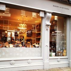 Chữ và hoạ tiết dán mở trên cửa kính - thạch cao mềm trang trí  hansel and gretel   bakery & patisserie #dublin