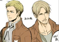 Attack on Titan ~~ This unusual pairing has popped up a lot lately. Hmm.... :: Erwin and Mike