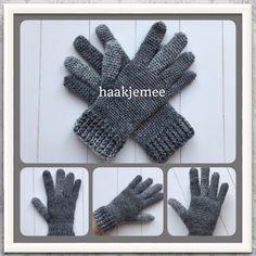 Haakjemee - Als haken je hobby is Crochet Gloves Pattern, Crochet Mittens, Mittens Pattern, Crochet Slippers, Knitted Gloves, Crochet Scarves, Crochet Shawl, Crochet Clothes, Knitting Patterns