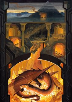 serena malyon j.tolkien smaug erebor the lonely mountain in the hobbit bilbo baggins dwarven mine Legolas, Tauriel, Gandalf, Hobbit Art, O Hobbit, Jrr Tolkien, High Fantasy, Fantasy Art, Elfa