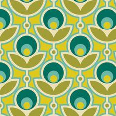Coupon Tissu fleurs géométriques A0464