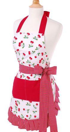 Hostess Vintage Apron ~ Very Cherry