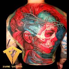 [ Tatuagem com efeito Tattoo with effect created by tattoo artist Omar Fame (fametattoos). Norse Tattoo, Atrapasueños Tattoo, Tatoo 3d, Sick Tattoo, Dope Tattoos, Skull Tattoos, Leg Tattoos, Body Art Tattoos, Sleeve Tattoos