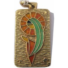 Gorgeous Vintage 18k Yellow Gold Enameled Pendant with Madonna Virgin... ($250) ❤ liked on Polyvore featuring jewelry, pendants, vintage, gold jewellery, pendant charms, chain pendants, 18k gold charms and 18k gold jewelry