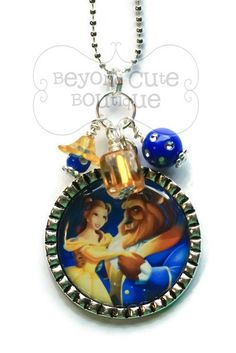BEAUTY and the BEAST NECKLACE /// Belle by BeyondCuteBoutique