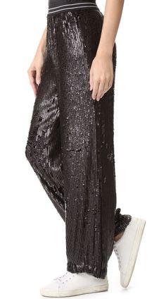 NWT $148 Free People Just a Dreamer Sequin Pants Black SZ M    eBay
