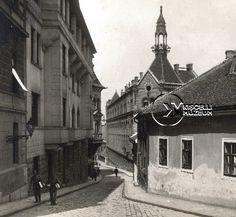 A Szalag utca, 1910-es évek  (Erdélyi Mór felvétele, BTM Kiscelli Múzeum Fényképgyűjtemény)