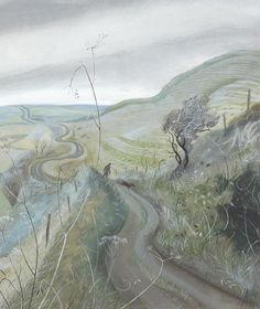 """Cold Road, Eggardon Hill"" by Nicholas Hely Hutchinson"