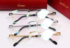 Fashion Men's business glasses - cartier eyewear, super light and elegant shop Cartier Glasses Men, Cartier Sunglasses, Luxury Sunglasses, Mirrored Sunglasses, Cool Glasses, Mens Glasses, Cartier Gold, Gold Diamond Watches, Eyeglasses