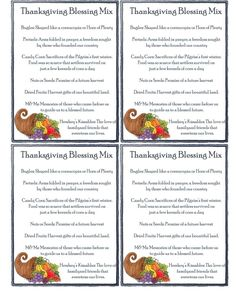 Thanksgiving Blessing Mix – Cranial Hiccups