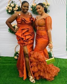 Incredible Asoebi styles just for you our fashionistas to try out on your next Owambe. African Party Dresses, African Dresses For Kids, African Wedding Dress, African Fashion Dresses, African Clothes, Fashion Outfits, Ankara Dress Styles, Lace Dress Styles, Ankara Gowns
