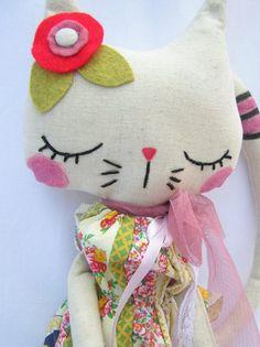 Gatinhos fofos e criativos em tecido - O Mundo de Calíope
