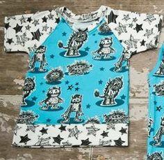 Gray Star Boutique FB custom turquoise fuzzy monsters raglan tee 18m