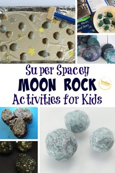 If you are looking for some fun science activities to do with your kids, these are definitely the ones! These super spacey moon rock activities for kids are great hands-on activities that won't disappoint! You will be able to actually teach your kids about moon rocks without actually visiting the moon. Find out these amazing moon rock activities for kids so that you can explore the space together! #space #moonrocks #science #kidsactivities #activitiesforkids Space Activities For Kids, Space Crafts For Kids, Moon Activities, Science Activities, Stem For Kids, Diy For Kids, Preschool Science, Preschool Crafts, Rock Crafts