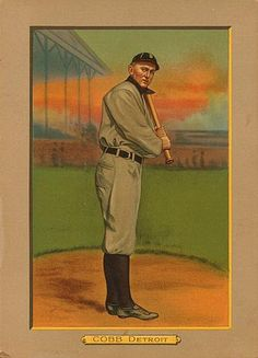 1911 Turkey Red Cabinets T3 #9 Ty Cobb Front