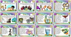KS2 Science Teaching Resource - Separating Materials classroom display posters for primary and elementary  schools