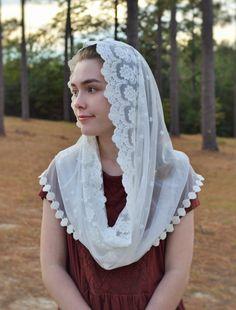 Traditional Catholic Off-White Lace Infinity by RobinNestLane