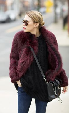 rad fur. Courtney in Pittsburgh. #AlwaysJudging