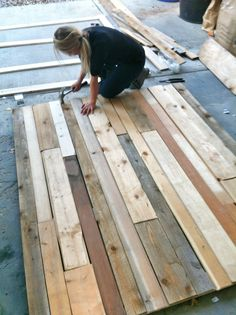 Building the wood wall