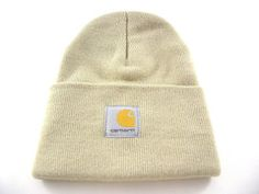 70b224c530615 Carhartt USA Cuff Ribbed Men s Women s Ivory White Winter Everyday Beanie  Hats - See more