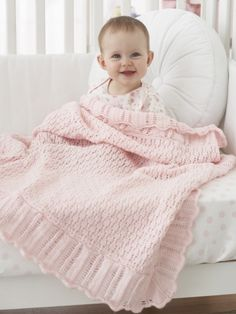 Buy Yarn Online and Find Crochet and Knitting Supplies and Patterns Knitted Afghans, Knitted Baby Blankets, Baby Afghans, Baby Blanket Crochet, Crochet Baby, Knitting Patterns Boys, Baby Patterns, Baby Knitting, Knitting Ideas