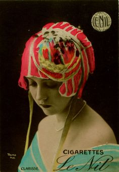 "French Cigarette Card - Actress, ""Clarisse"""