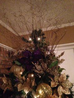 Christmas tree topper, LSU BY KKDEAN
