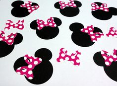 30  25 Minnie Mouse Head Silhouettes Black by SimplyPanoply, $6.25