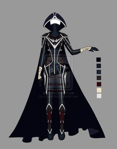 Out-of-this-world fashion for the Futura. Hoods, masks, and cloaks provide U-V protection out-of-doors.  (Adoptable outfit 10 by LaminaNati on DeviantArt)