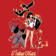 Pretty Guardian Trainer Mars by Isabelle vV, sailor moon, pokemon, mashup, fire, Mars