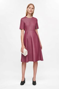 COS image 1 of Waisted dress in Orchid