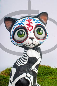 Day of the Dead Cat by temikasperry on Etsy